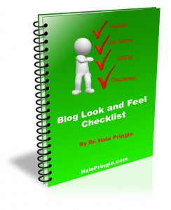 Blog Look and Feel Checklist
