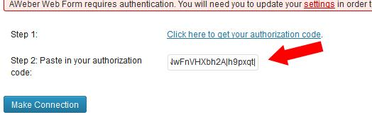 Paste Authorization Code