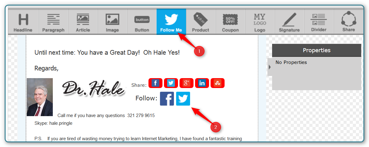 how to add twitter follow button