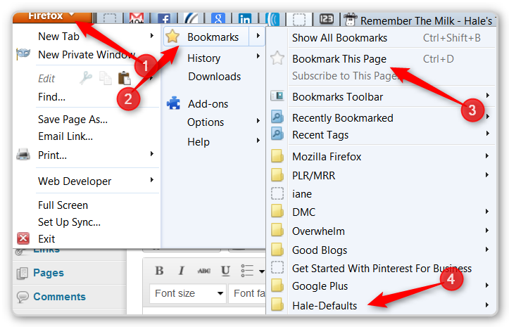 Firefox Tips - Bookmark defaults