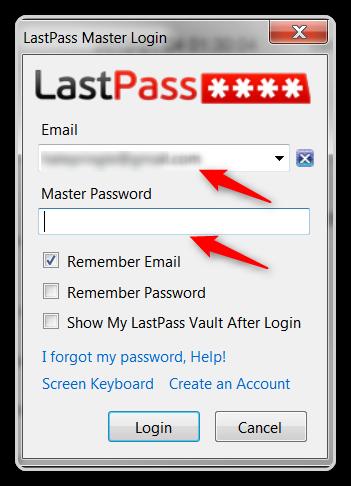 Firefox Tips -Login to Lastpass