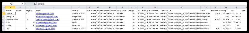 AWeber List Management -Excel File