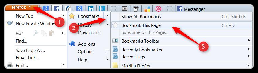 Firefox Setup - Bookmark a Tab