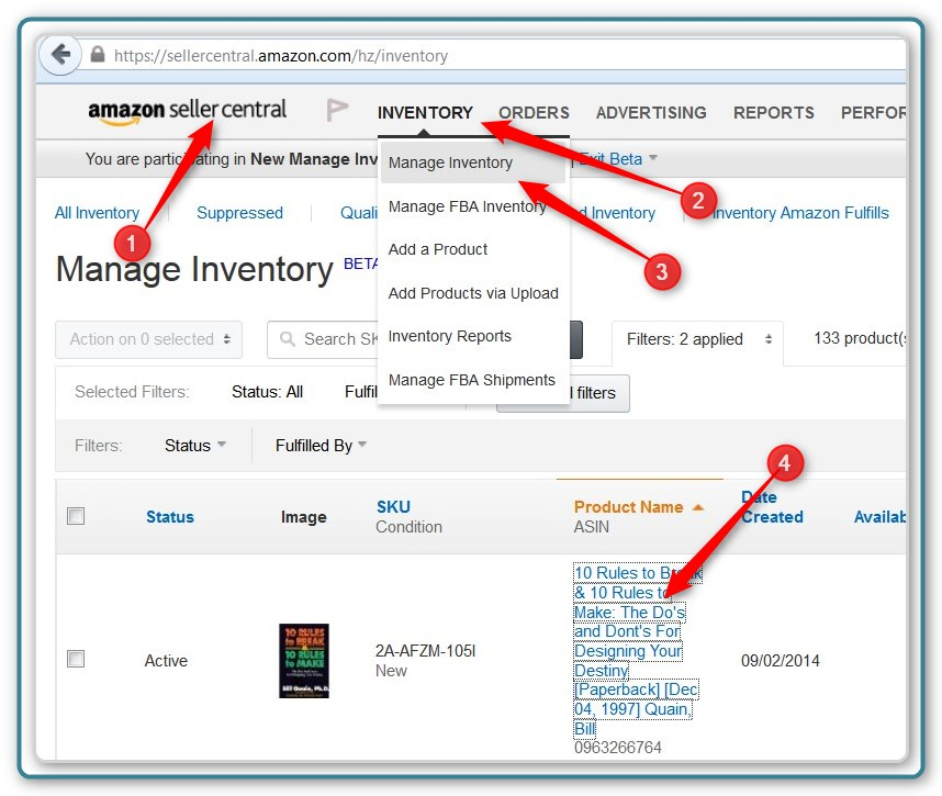 Inventory Management Page