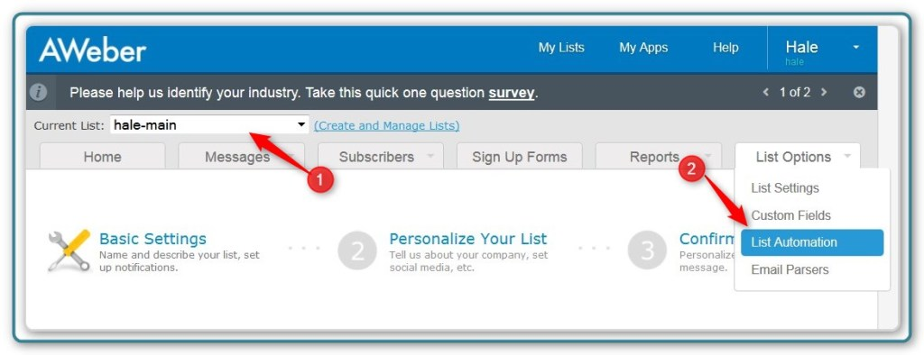 New List - Automatically Subscribing to Two Lists