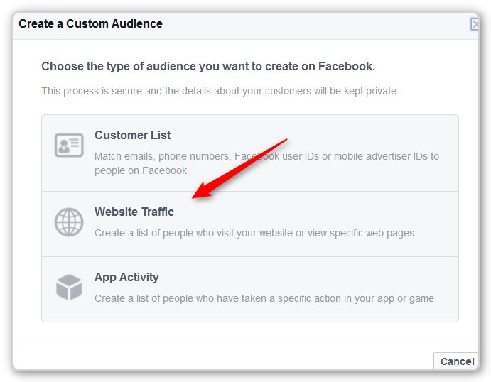 Facebook Retargeting Sebsite Traffic