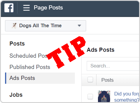 Facebook Page Posts Tip