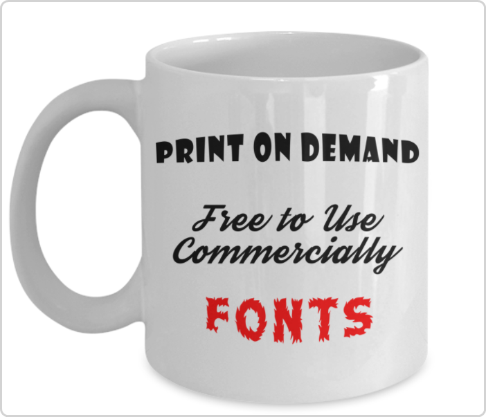 Free to Use Fonts Even Commercially for POD Products